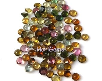 10 piece 3mm Multi Tourmaline Faceted Round Calibrated Size Gemstone - Natural Multi Color Tourmaline Round Faceted Loose Gemstone