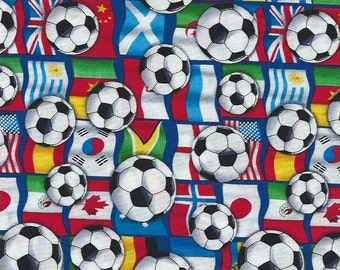 Soccer Balls with Flags Timeless Treasures