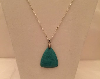 Turquoise Triangle Pendant Necklace/Pendant/Turquoise