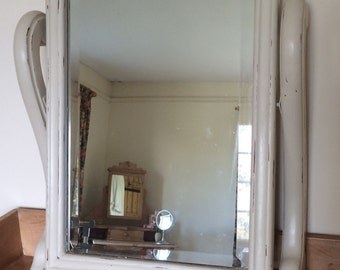 Now Sold.......Vintage Wooden Painted Dressing Table Mirror.