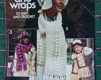 Leisure Arts Caps and Wraps to Knit and Crochet (Leaflet 79, Leaflet 79) Paperback – 1976