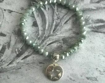 Bracelet glass beads Star Bohostyle