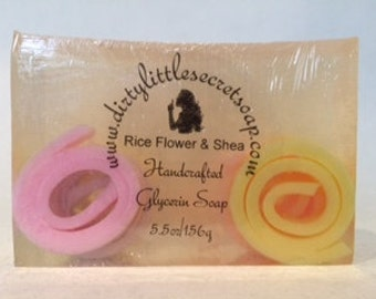 Rice Flower & Shea   Dirty Little Secret Soap Co.   Handcrafted Soap   Handmade Soap   Vegan Soap   Homemade Soap   Glycerin Soap