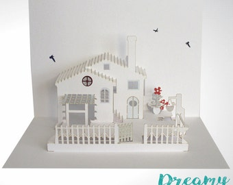 New House Pop Up Card