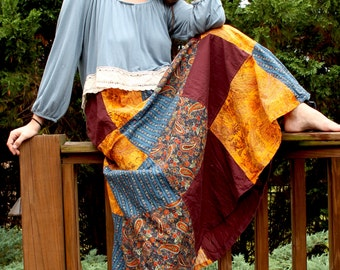 Patchwork Gypsy Boho Skirt