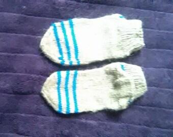 Hand-knitted woolen socks