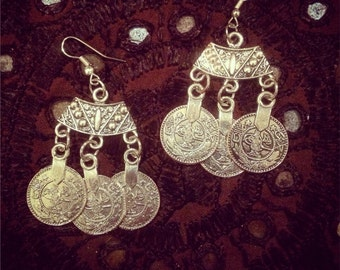 Gypsy coin earrings
