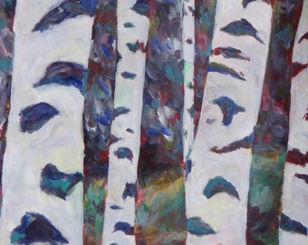 Birch Forest (large painting)