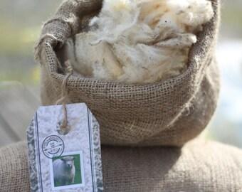 Raw Ryeland fleece - 1/3 - Flo
