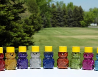 Mini Sensory Bear - Sensory Toy - Sensory Bottle - Autism Toys - Autism Sensory Toys - Holographic Set