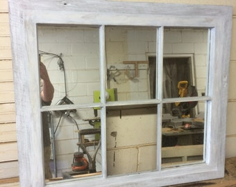 Repurposed Mirror Window Sash