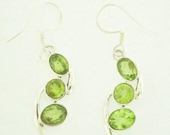 Peridot in sterling silver Earrings