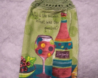 Hanging Wine Kitchen Towel