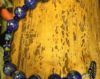 Blue Shell Round Beads