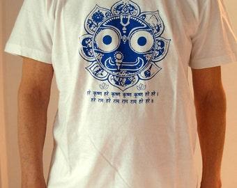 "t-shirt unisex organic cotton yoga ""Jagannatha-Maha Mantra"""