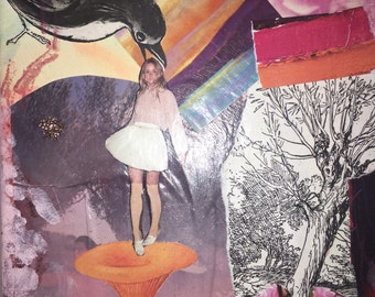 Pink Mixed Media Collage