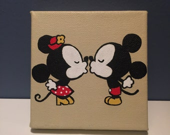 Mickey and Minnie Mouse canvas