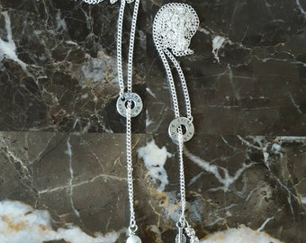 Lariat Bullet Necklace Ft. Charms and beads.