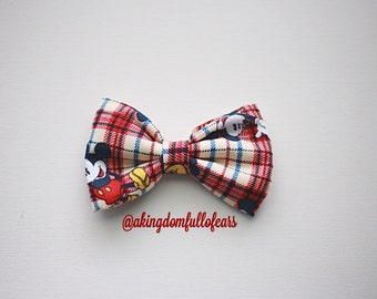 Mickey Mouse Bow // Fabric Bow