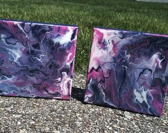 Acrylic Pools - Resin Art - Acrylic Painting - Acrylic Resin Painting - Canvas - Home Decor
