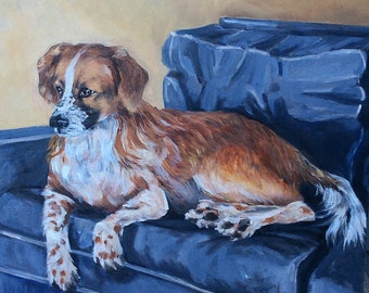 Pet Portrait, Pet Painting, Pet/Animal Art, Dog Portrait, Customizable, Original Art, Wall Art, Dog Lover Art, Collie, Shepard Dog Portrait