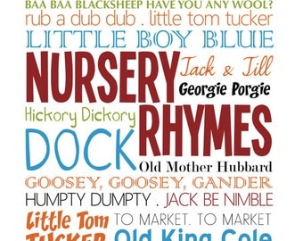 Nursery Rhyme Printable