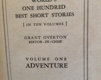 Vintage hardcover book: World's 100 Best Short Stories 1927 Volume 1 Adventure