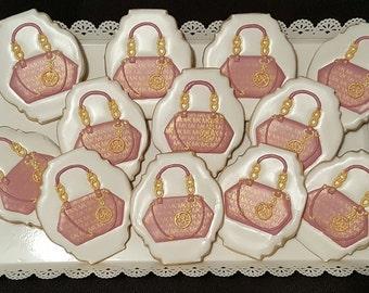 Michael Kors inspired Handbag Sugar Cookies