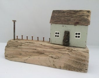 Miniature Driftwood Seaside Cottage