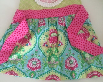 Lime and pink knot dress