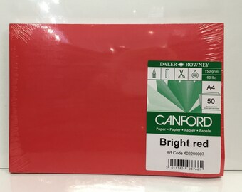 Paper - 50 sheets Bright Red
