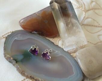 Amethyst, Sterling Silver Earrings
