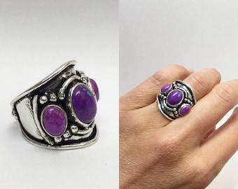 LIQUIDATION SALE!!!  Purple turquoise ring