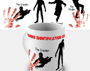 Zombie Identification Chart Ceramic Novelty Mug