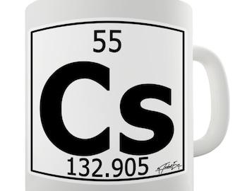 Periodic Table Of Elements Cs Cesium Ceramic Funny Mug