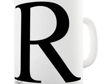 Alphabet Monogram R Ceramic Funny Mug