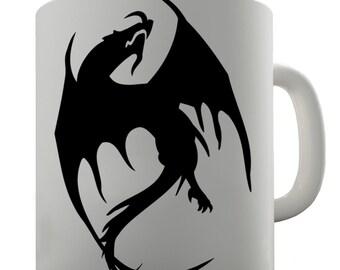 Black Dragon Silhouette Ceramic Mug