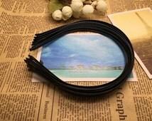 12 pcs black color (6mm width) metal headband,--TF2