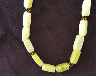 Peridot Jasper necklace