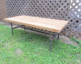 Industrial reclaimed wood coffee table rustic farmhouse coffee table pipe table