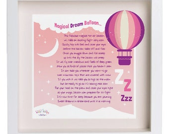Pink Dream Balloon Poem