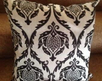Silver Grey Patterned Cushion Cover