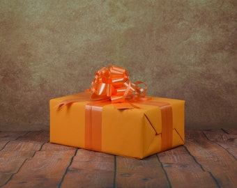 Classic Collection Gift Wrap Kit - Orange