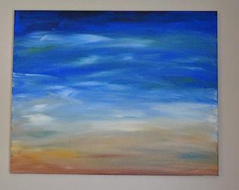 Beach - Original Abstract Acrylic Painting