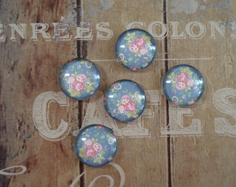 14mm - Vintage Inspired Flower Bouquet Cabochon