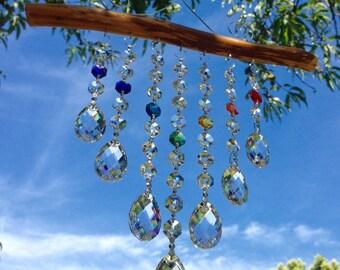 7 Strand Confetti Crystal Suncatcher