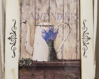 Wood frame shabby chic