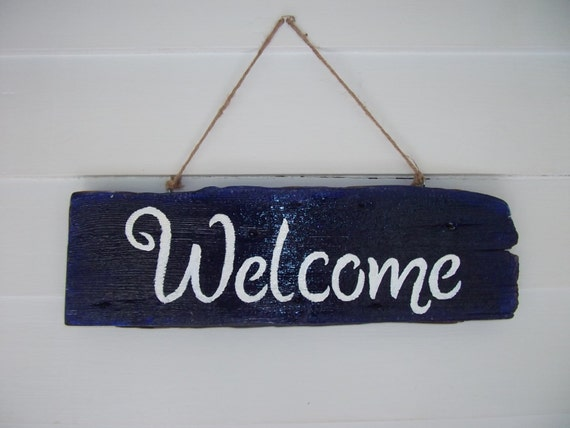 Welcome Sign, Rustic Sign, Made Out Of Reclaimed Wood