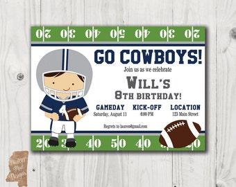 Birthday Invitation - Cowboys Football