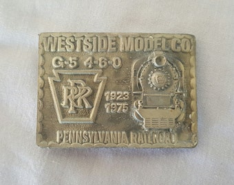 Vintage Westside Model Co Pennsylvania Railroad Belt Buckle